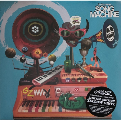 GORILLAZ-SONG MACHINE(黃膠)(LP)VINYL