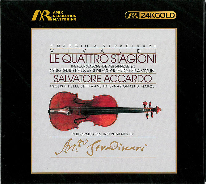 SALVATORE ACCARDO - THE FOUR SEASONS 韋瓦第:四季小提琴協奏曲 (LE QUATTRO STAGIONI) ARM 24K GOLD